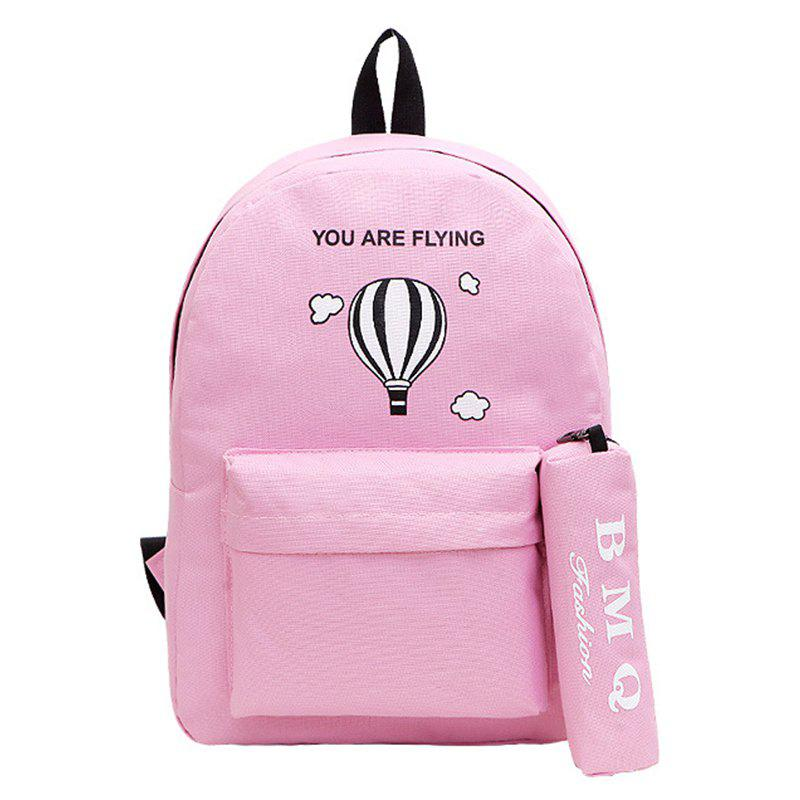 Chic Two-Piece Printed Hot-Air Balloon Bag Slanted Backpack