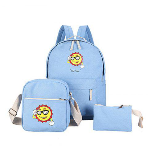 Outfits Three-Piece Sun Canvas Student Backpack