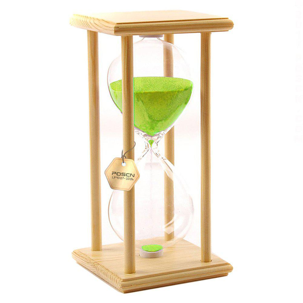 Discount POSCN 60 Minutes Durable Glass Hourglasses Crude Wood Sand Timer for Time Management LP9007-0006