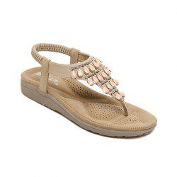 Ladies Rubber Sole Water Drilling Flat Shoe Beach Shoes -