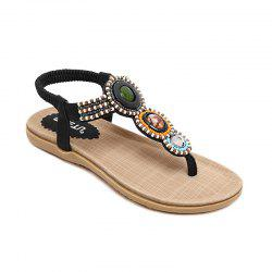 The Lady Beaded Commerce extérieur Large Beach Flats -