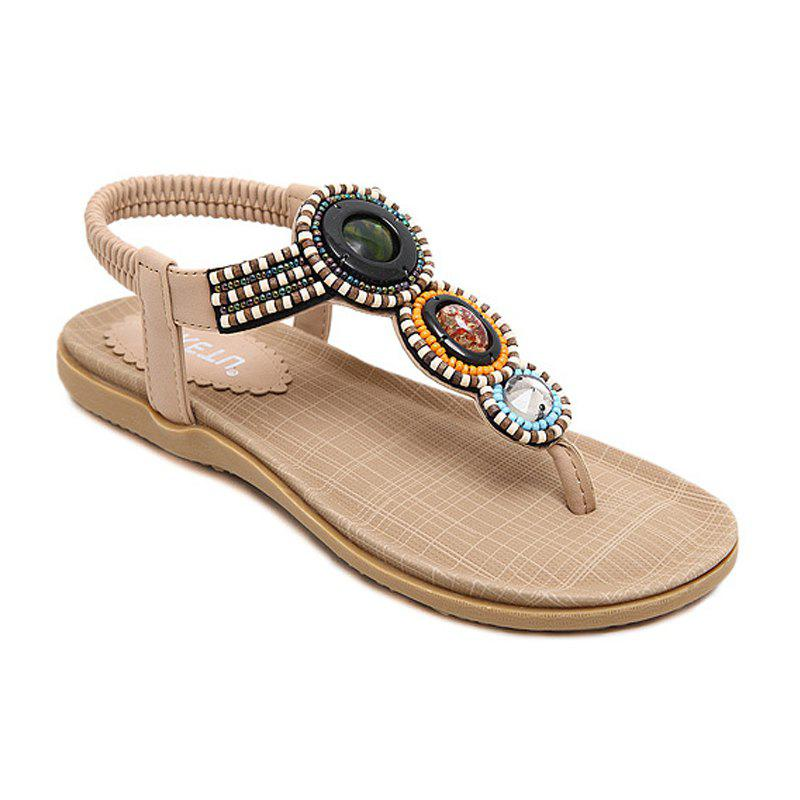 The Lady Beaded Commerce extérieur Large Beach Flats