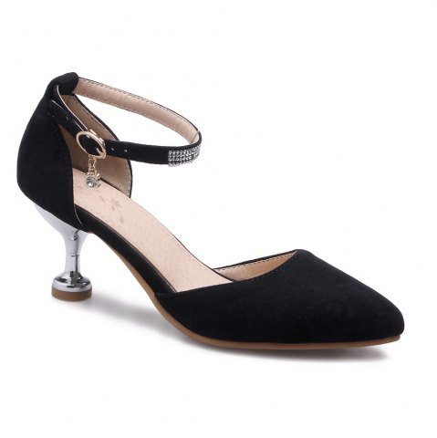 Online Miss Shoes 559 Pointed Glasses and Fashionable Single Shoes