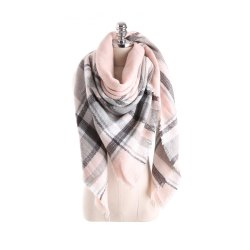 Salybaby Lattice Stitching Multicolor Color Imitation Cashmere Scarf -