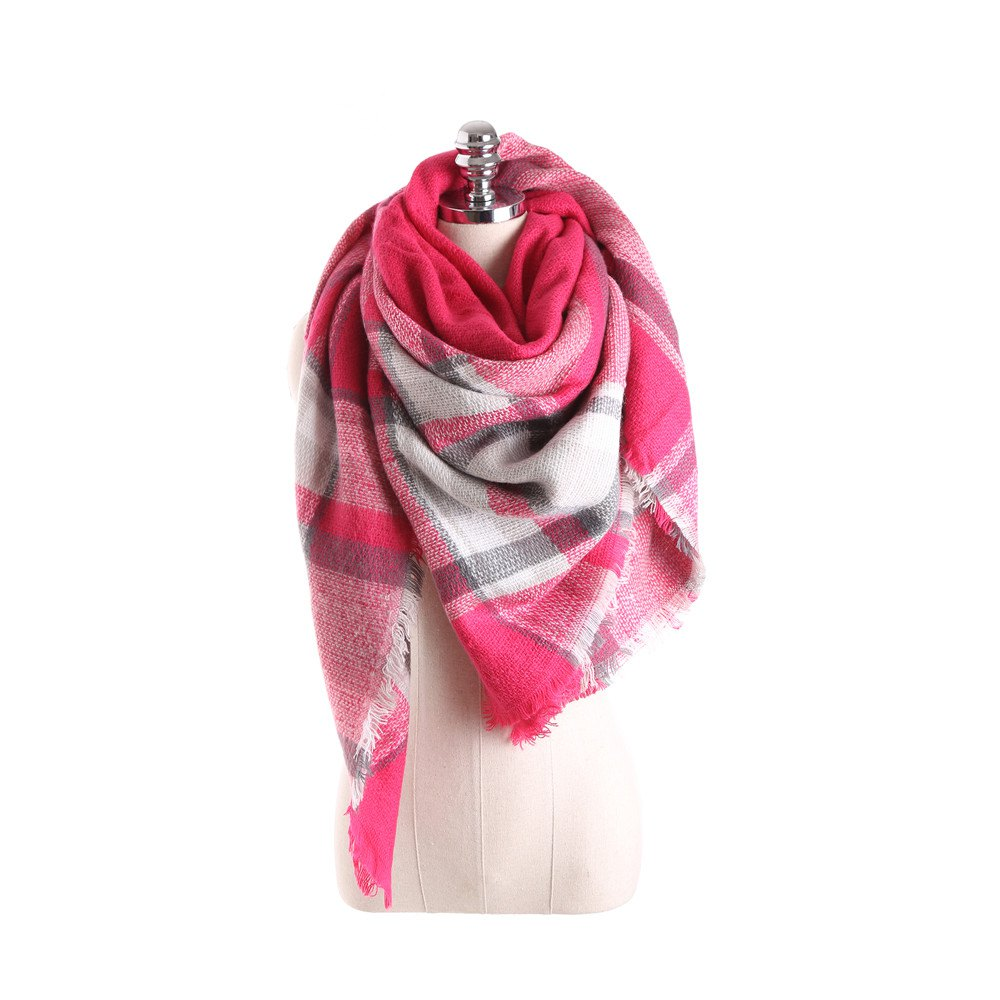 Fashion Salybaby Lattice Stitching Multicolor Color Imitation Cashmere Scarf