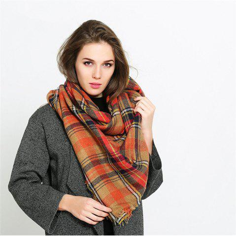 Shops Coloured plaid like cashmere warm scarf