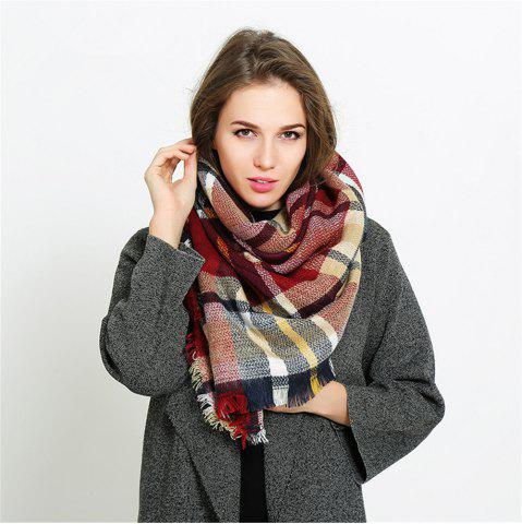 Best Coloured plaid like cashmere warm scarf