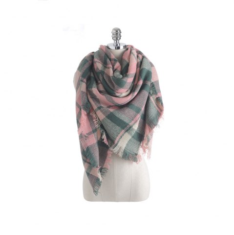 Outfits The new color imitation cashmere scarf Plaid Scarf