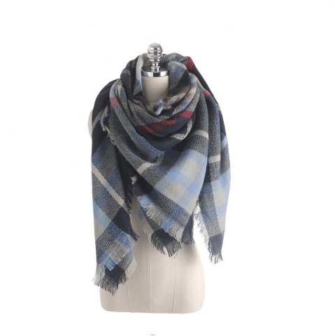 Sale The new color imitation cashmere scarf Plaid Scarf