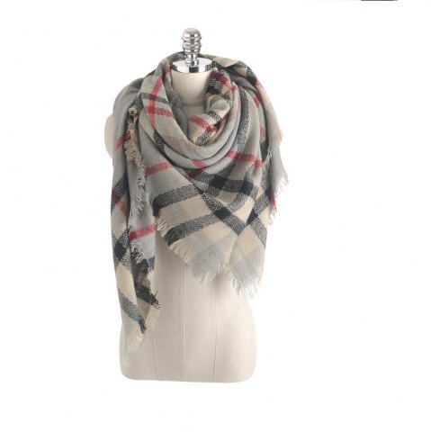Trendy The new color imitation cashmere scarf Plaid Scarf