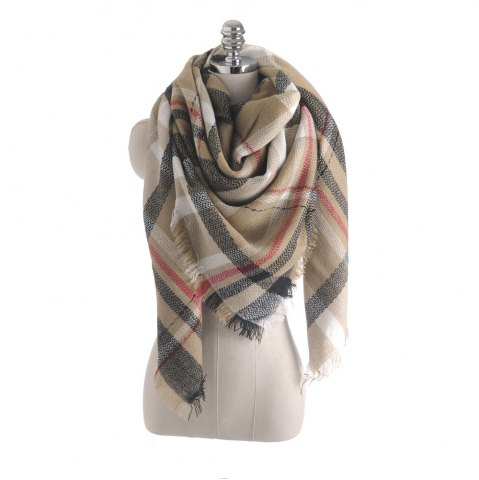Shops The new color imitation cashmere scarf Plaid Scarf