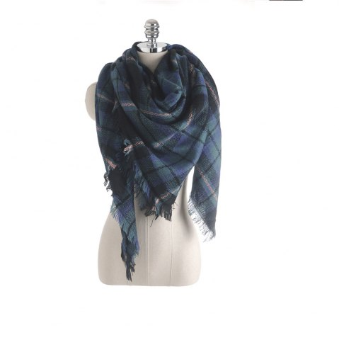 Chic The new color imitation cashmere scarf Plaid Scarf