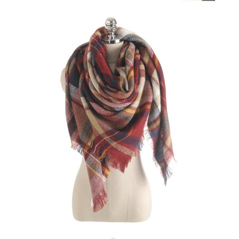Affordable The new color imitation cashmere scarf Plaid Scarf