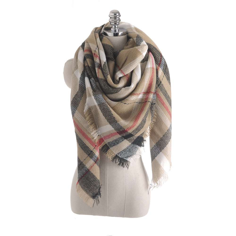 Shops Salybaby New Color Imitation Cashmere Scarf Plaid Scarf