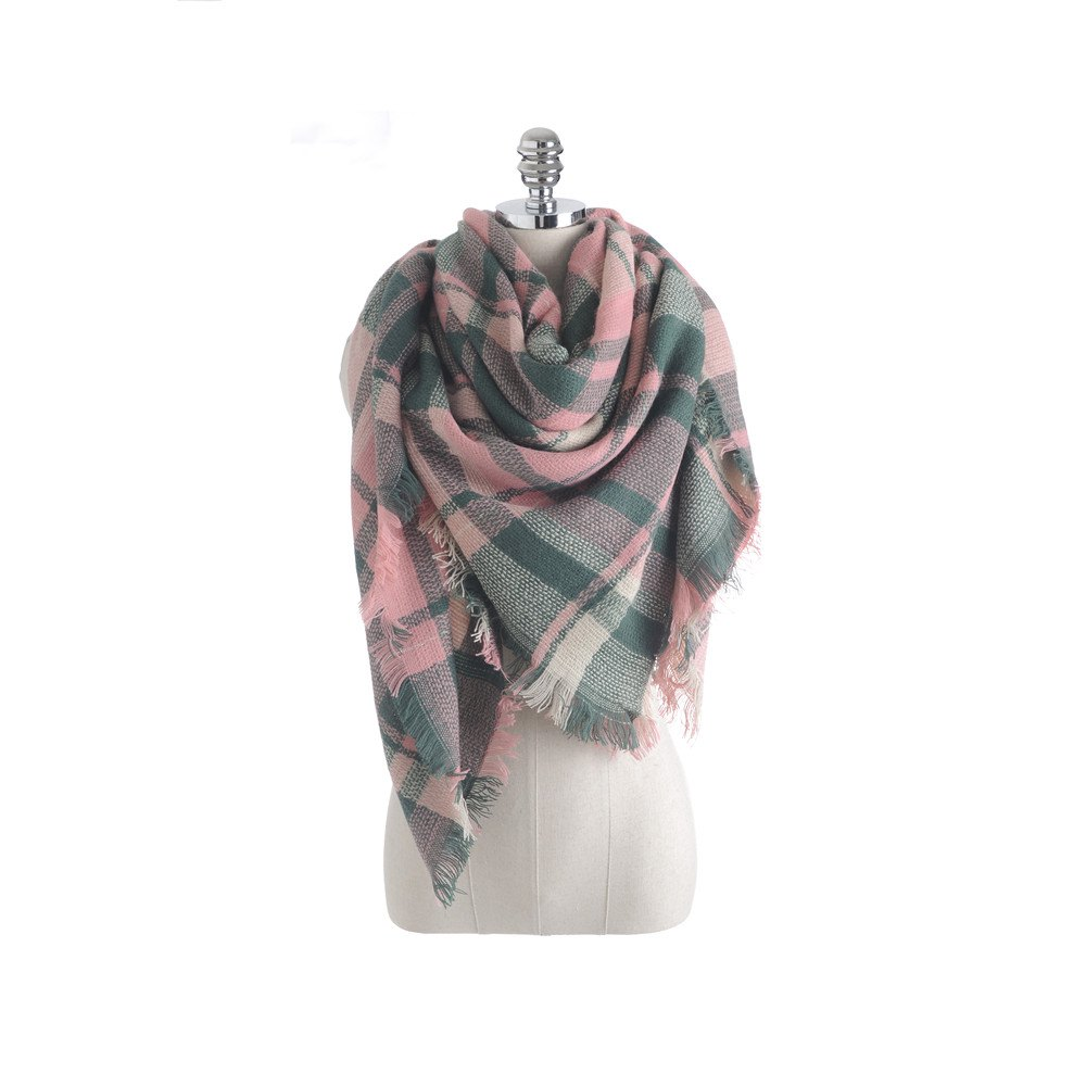 Outfits Salybaby New Color Imitation Cashmere Scarf Plaid Scarf