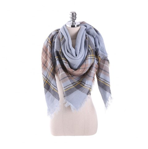 Online New multicolor Plaid warm fashion scarf scarf
