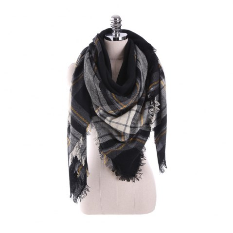 Cheap New multicolor Plaid warm fashion scarf scarf