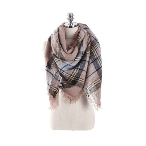 Outfits New multicolor Plaid warm fashion scarf scarf