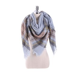 New multicolor Plaid warm fashion scarf scarf -