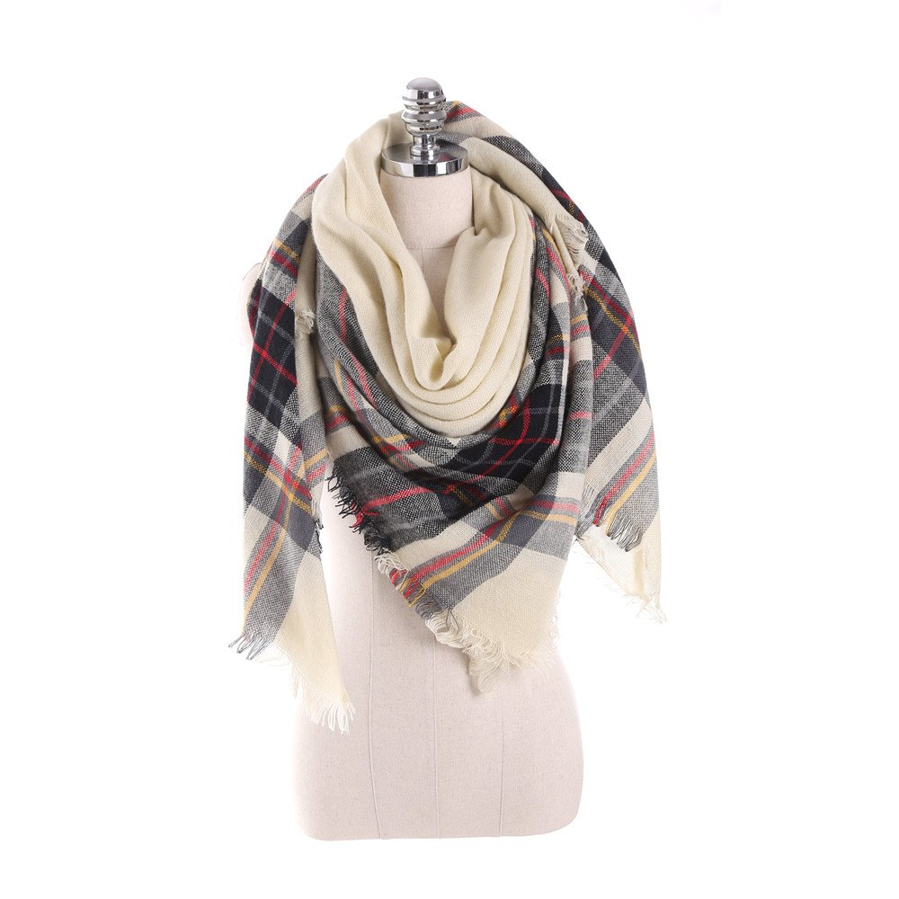 Discount New multicolor Plaid warm fashion scarf scarf