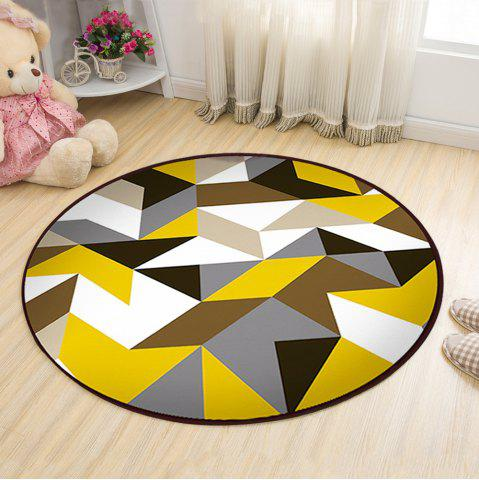 Fancy Floor Mat Modern Style Geometry Pattern Multi Colored Round Decorative Mat1
