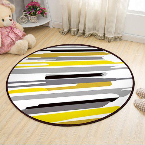 New Floor Mat Modern Style Lines Pattern Multi Colored Round Decorative Mat1