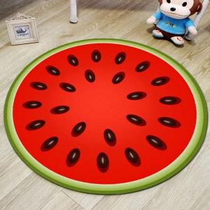 Home Round Rug Fresh Cute Watermelon Pattern Decorative Soft Door Mat4 -
