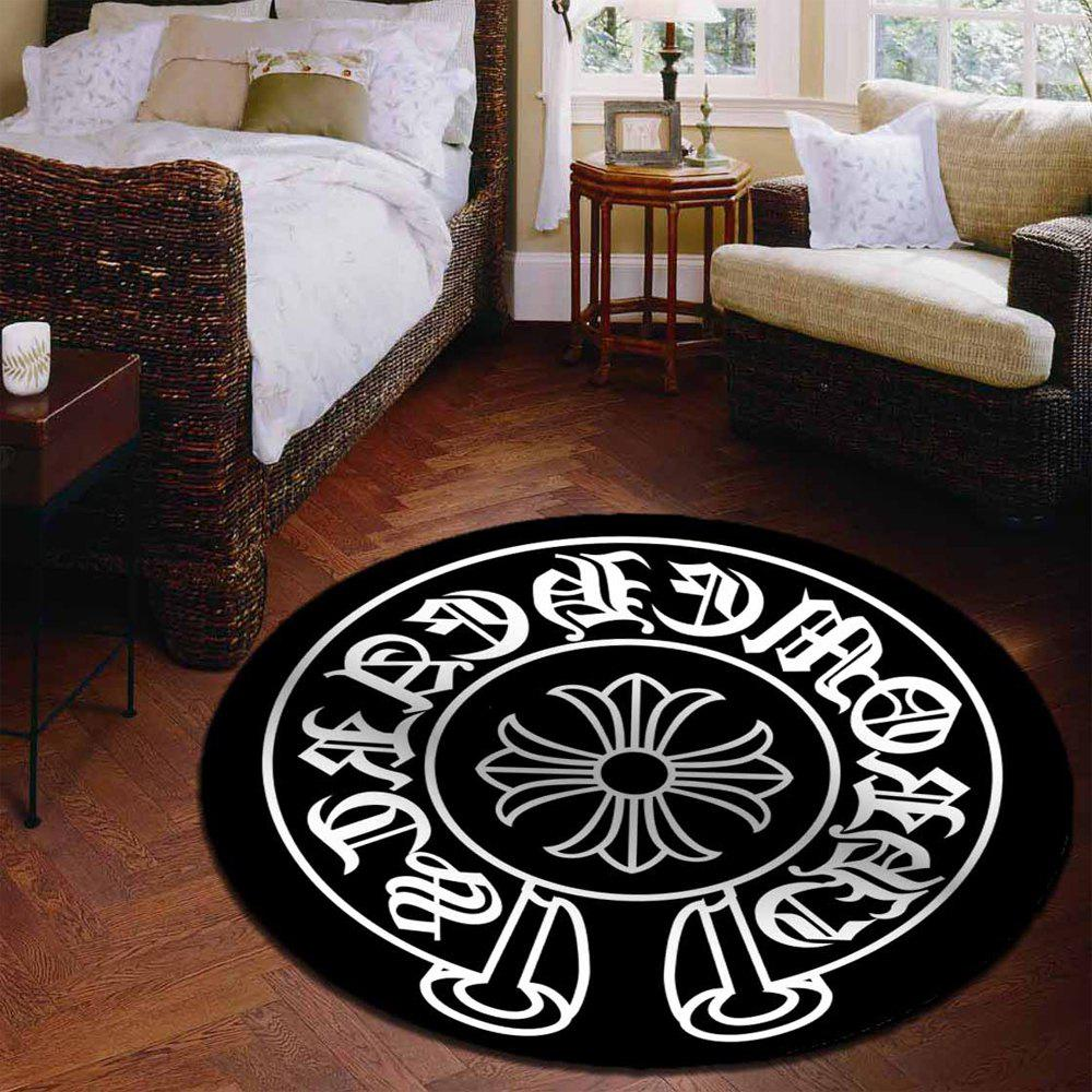 Latest Decorative Rug Round Shaped Design Antiskid Soft Home Mat5