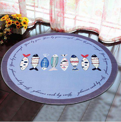 Fashion Round Rug Home Decorative Cute Horse Pattern Protective Floor Mat Pictographic fish1