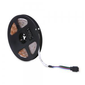 HML 2pcs x 5M 24W Waterproof RGB 2835 SMD 300 LED Strip Light with IR 44 Keys Remote Control+ DC Adapter(EU Plug) -