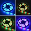 HML 2pcs 5M waterproof 24W RGB 2835 300 LED Strip Light - RGB with IR 20 Keys Music Remote Control and US Adapter -