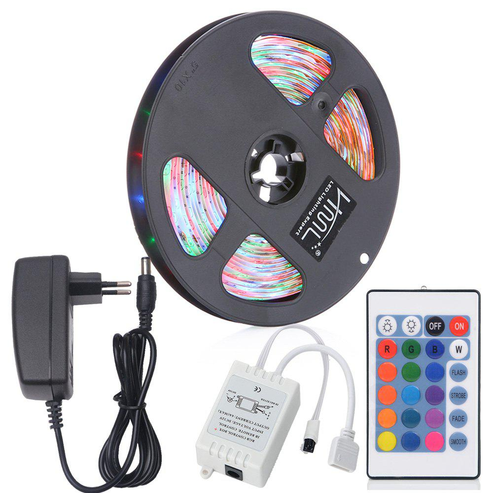 Outfits HML 5M Water-proof 24W RGB 2835 SMD 300 LEDs Strip Light with 24 Keys Remote Control and EU Adapter