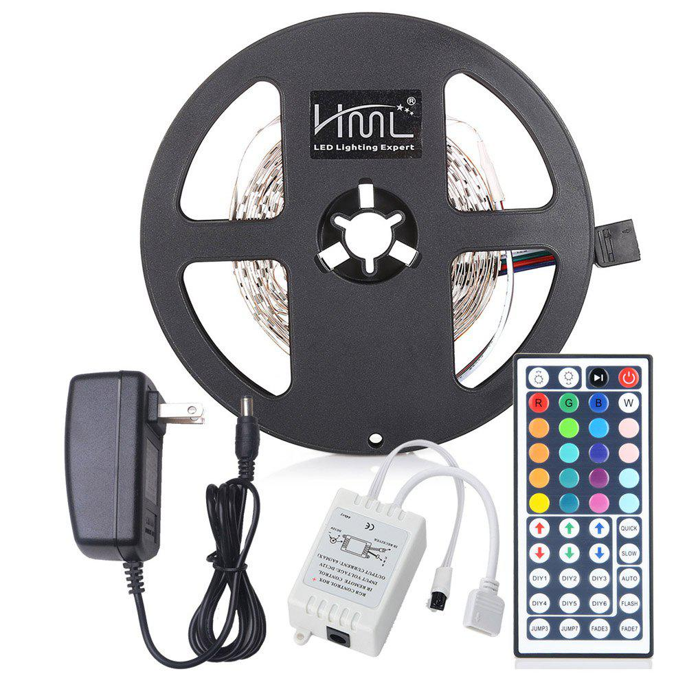 Best HML LED Strip Light 5M 24W RGB SMD2835 300 LEDs - RGB COLOR with IR 44 Keys Remote Control and US  Adapter
