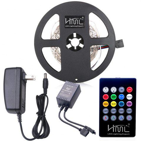 Shop HML LED Strip Light 5M 24W RGB SMD2835 300 LEDs - with IR 20 Keys Music Remote Control and US Adapter