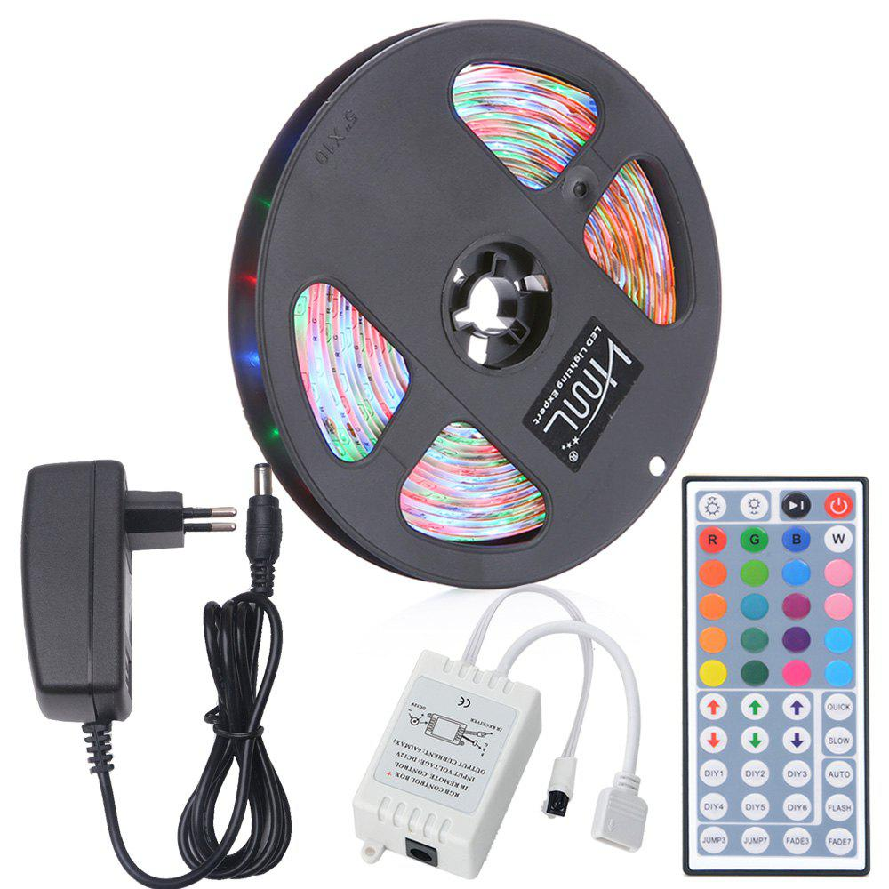Store HML 5M Waterproof 24W RGB 2835 SMD 300 LED Strip Light with IR 44 Keys Remote Control+ EU Adapter