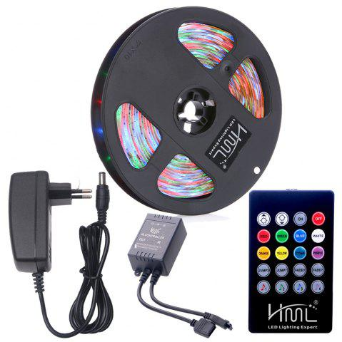 Outfit HML Waterproof LED Strip Light 5M 24W RGB SMD2835 300 LEDs - with IR 20 Keys Music Remote Control and EU Ad