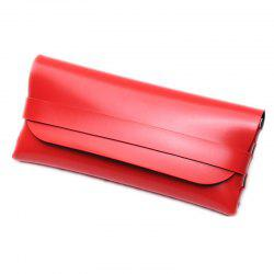 Fashion Portable Soft Horizontal PU Leather Sunglasses Pouch Sunglass Box Case -