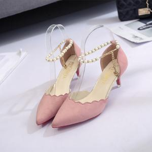 2017 New High Heel Beaded Single Shoes Women -