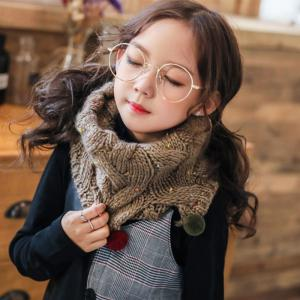New children's color points across the hood scarf autumn and winter warm cold men and women baby neckerchief -