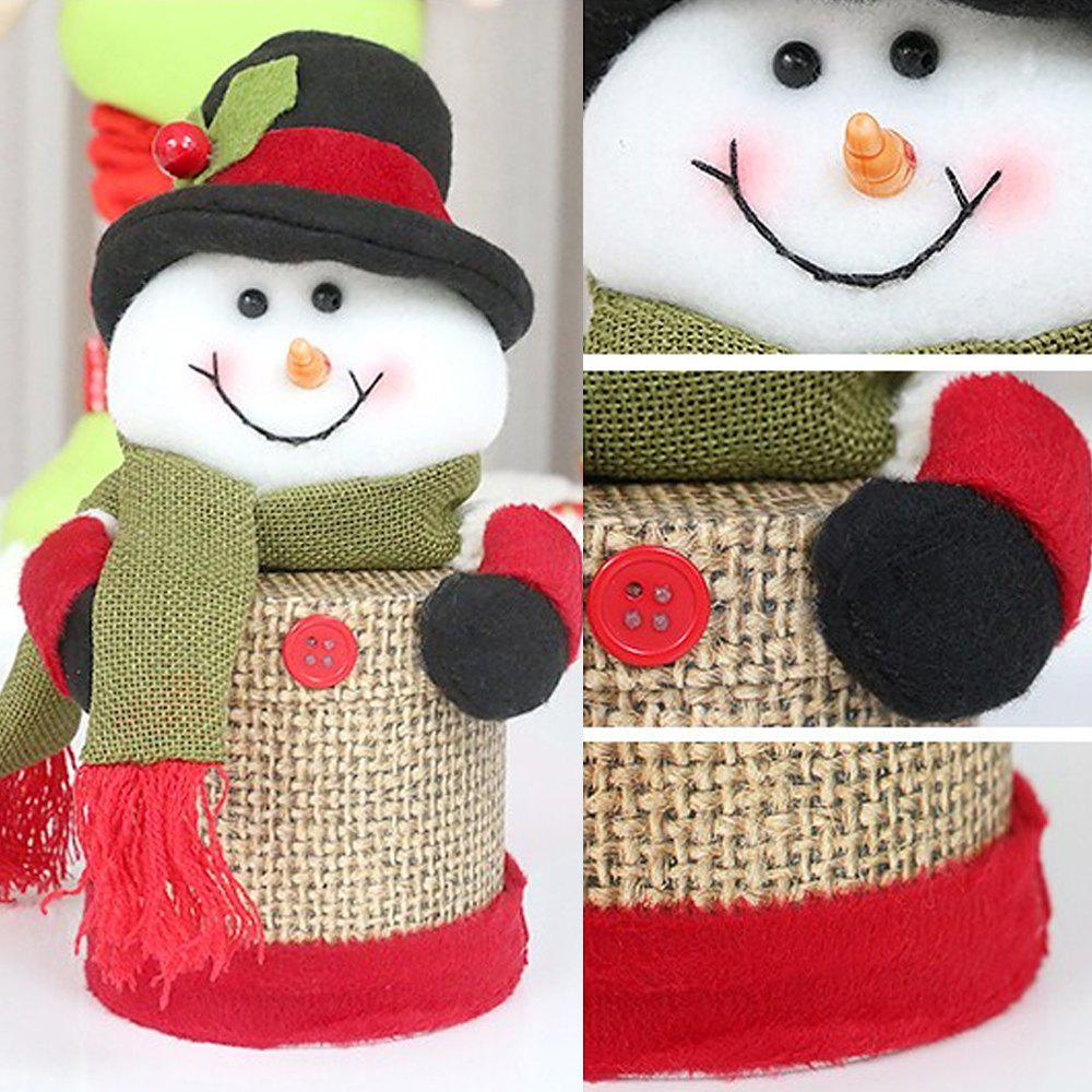 Outfit Christmas decoration supplies Creative Christmas linen candy jar