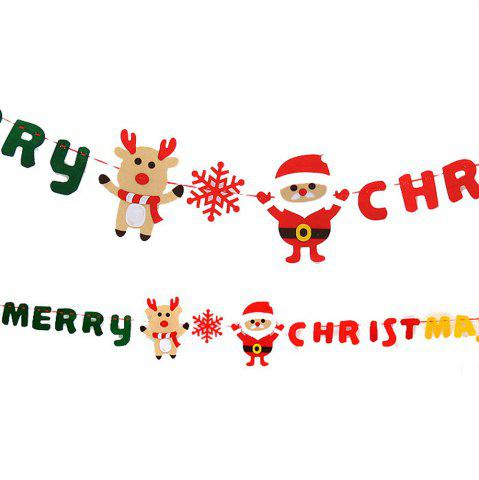 Sale Christmas decoration supplies Christmas decoration hanging flag non-woven Merry Christmas pull flag