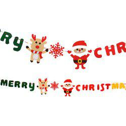 Christmas decoration supplies Christmas decoration hanging flag non-woven Merry Christmas pull flag -