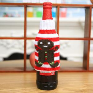 New Christmas items Christmas knitted wine bottles set Christmas snowman beer bottle sets Christmas decorations -