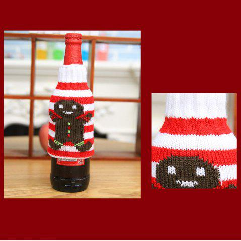 Trendy New Christmas items Christmas knitted wine bottles set Christmas snowman beer bottle sets Christmas decorations