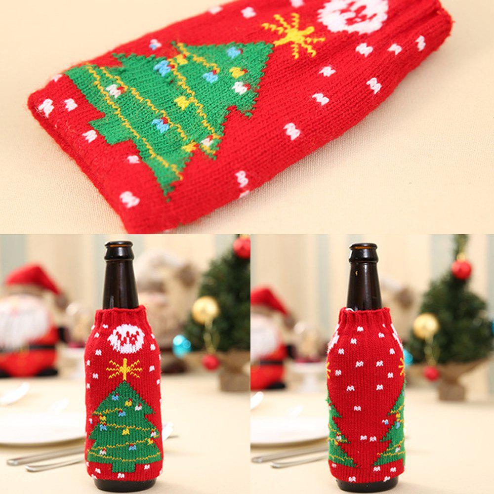Unique New Christmas items Christmas knitted wine bottles set Christmas snowman beer bottle sets Christmas decorations