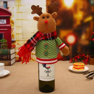 Christmas Home Furnishing Supplies Christmas Wine Bottle Sets Christmas Dolls Champagne Bottle Sets Wine Bottle Decorati -