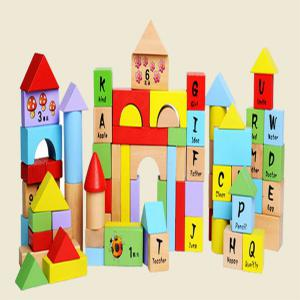 Creative Type 100 - barrel  Beech Wooden Block Children Puzzle Toy English Letter -