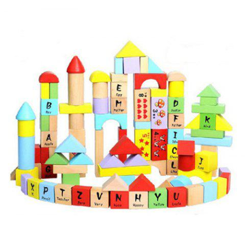 Trendy Creative Type 100 - barrel  Beech Wooden Block Children Puzzle Toy English Letter