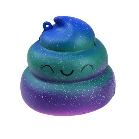 Latest Cute  Slow Rebound Simulation Starry Sky Dazzling Squishy POO Pressure Release Toys Elastic Eco-friendly PU Material