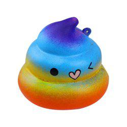 Cute Slow Rebound Simulation Starry Sky Dazzling Squishy POO Pressure Release Toys Elastic Eco-friendly PU Material -